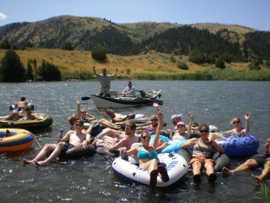 TRG floating the Madison River in Montana.