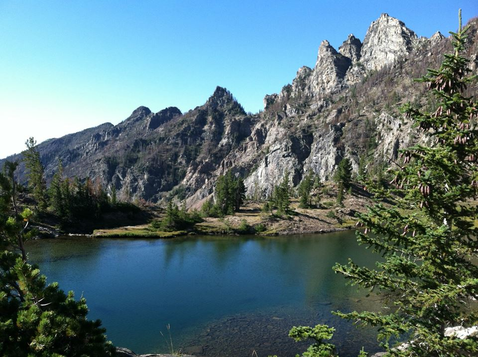 The view from Pine Creek lake Livingston, MT