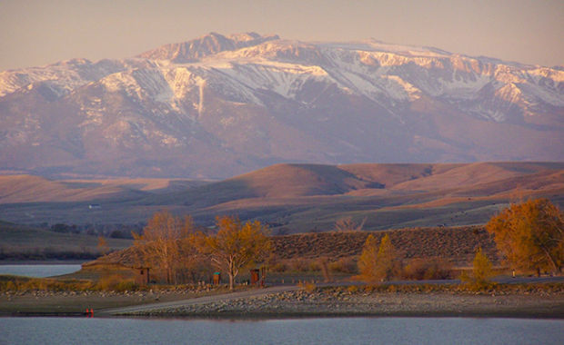 Cooney Reservoir State Park is one of the many pristine state parks near Bozeman, Montana.