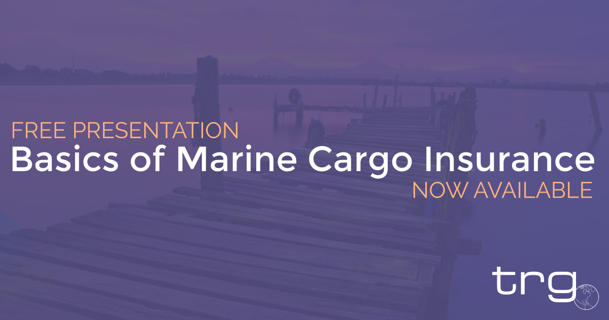 Learn more about Marine Cargo Insurance with a free PDF from Trade Risk Guaranty and make sure your ready for water damaged goods.