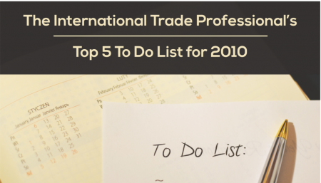 Top 5 to do list for international trade community.