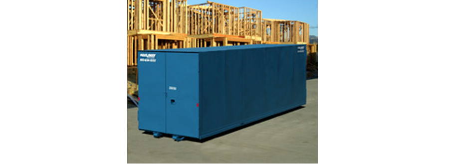 Roll off shipping container types are meant for transporting sets or stacks of materials.