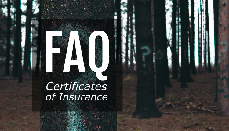 Trade Risk Guaranty answers frequently asked questions about certificates of insurance.