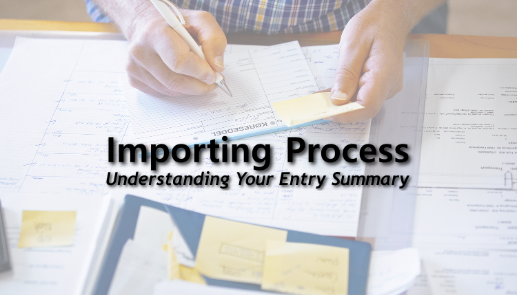 Entry Summary Cbp Form 7501 Importing In The United States Trg