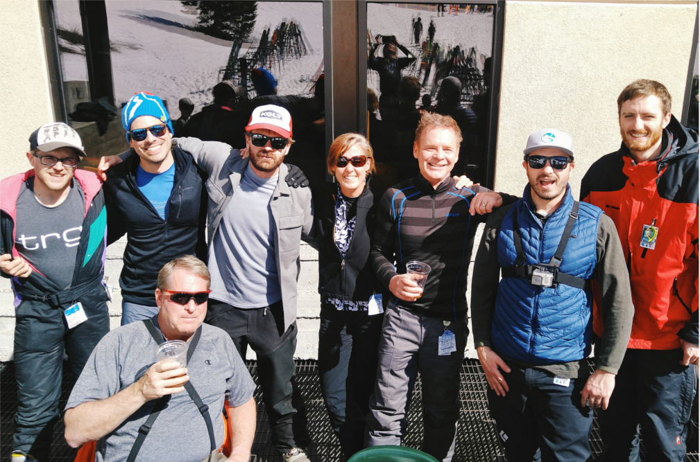 In celebration of life in Montana, Trade Risk Guaranty's employees gather at Bridger Bowl.
