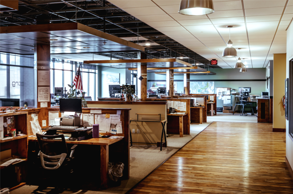 Inside the Downtown Bozeman offices of Trade Risk Guaranty.
