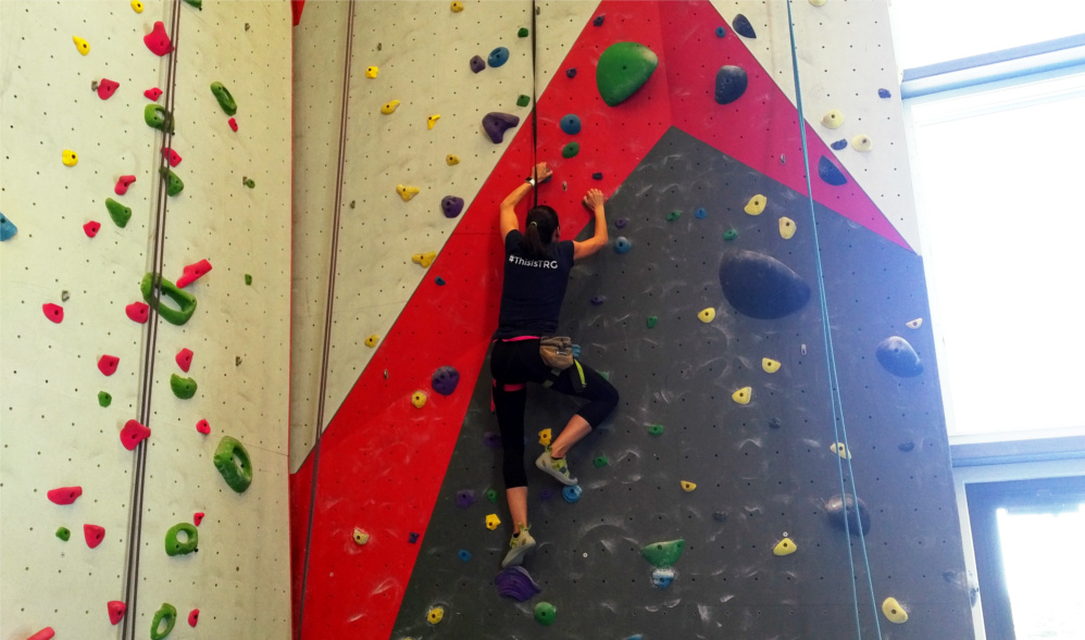 Climbing at Spire was another great activity during TRG's Summer Montana Esprit de Corps day.