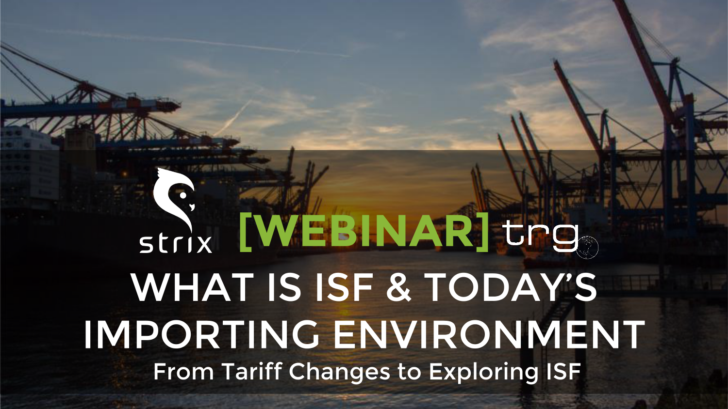 Trade Risk Guaranty holds a webinar discussing the new tariffs on imports from China.