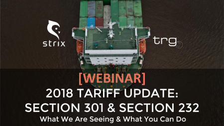 Trade Risk Guaranty hosts an educational webinar covering updates on the Section 232 and Section 301 tariffs.