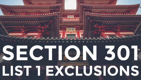 Trade Risk Guaranty breaksdown the Section 301 exclusions for items on List 1.