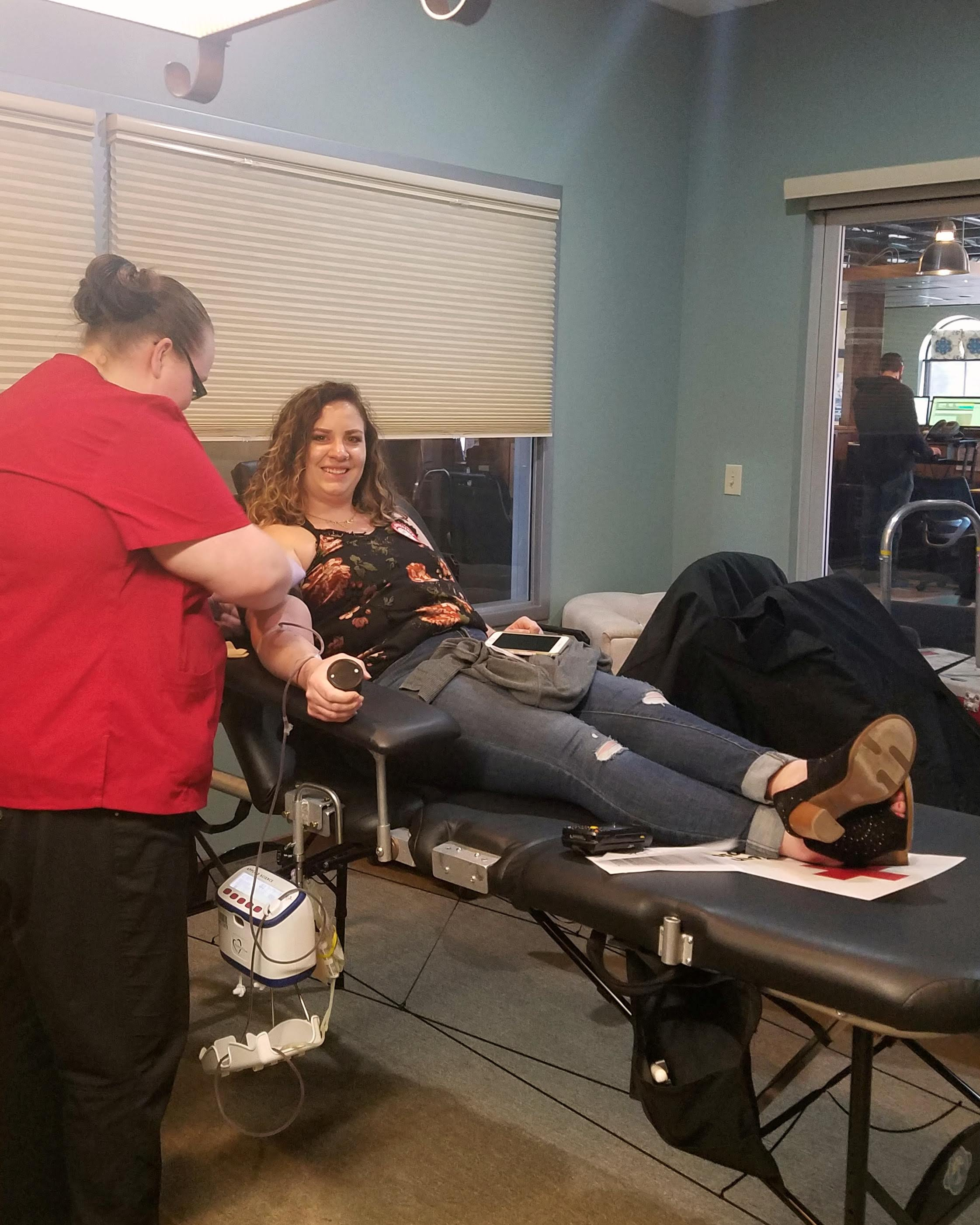 Rachel Bauman, TRG's Bond Claims Manager, has a rare blood type and has donated with the Red Cross 17 times