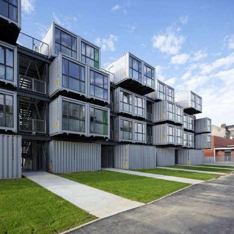 cita a docks in le havre, france. apartments created from shipping containers