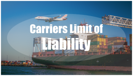 In the case of damaged or lost goods, the carrier could hold liability for these goods. This is known as the carriers limit of liability