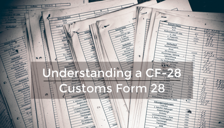 After you have imported goods into the United States, there is a chance that you may receive a Customs Form 28 concerning the entry you made