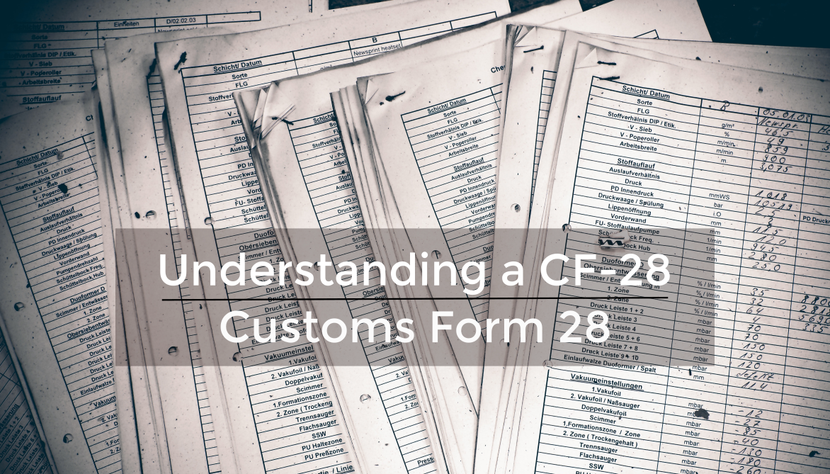 Intro to Importing: Understanding a CF-28