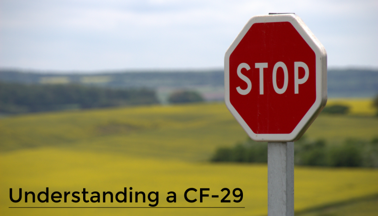 CF-29 is no warning, it is a Notice of Action. Customs believes that you payed a different amount in duties than what is owed