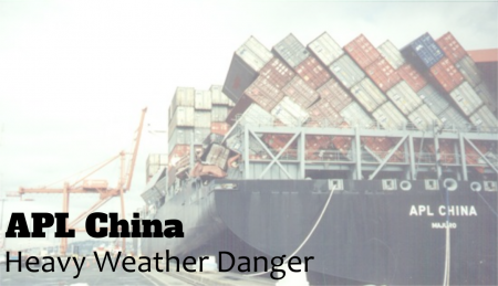 In 1998 the APL China lost a record breaking amount of cargo. This loss was caused by an Act of God, Typhoon Babs.
