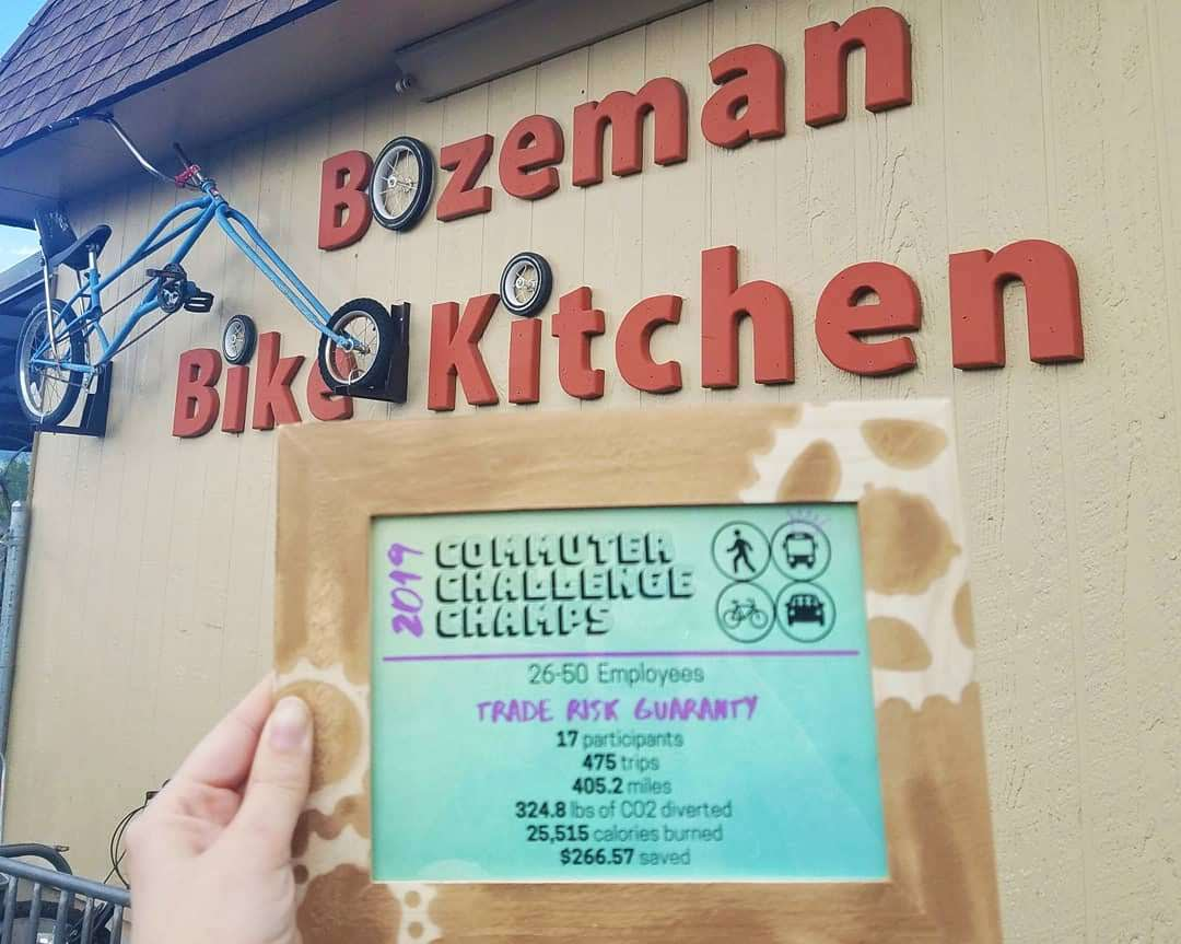 The Bozeman Commuter Challenge is a community event where organizations and businesses compete against each other while sustainably traveling to and from work.
