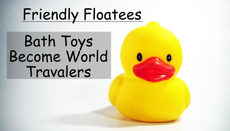 The friendly floatees traveled all across the world.