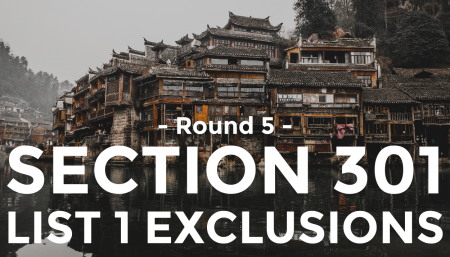 Trade Risk Guaranty provides a breakdown of round 5 Section 301 exclusions granted by the USTR.