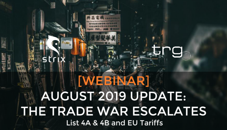 Trade Risk Guaranty holds an update on the trade war with China this August.