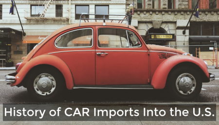 The number of imported automobiles in the U.S. has exponentially increased since the late 1950's when cars first came across the ocean to the U.S.