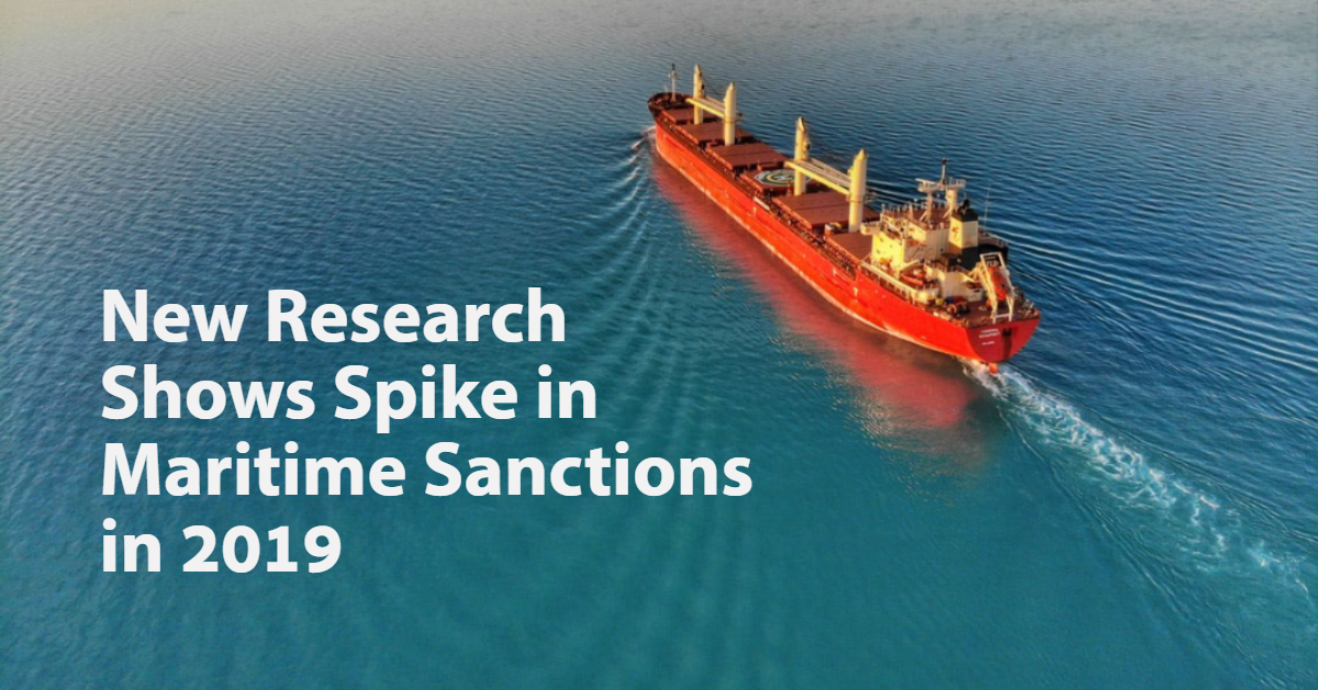 New Research Shows Spike in Maritime Sanctions in 2019