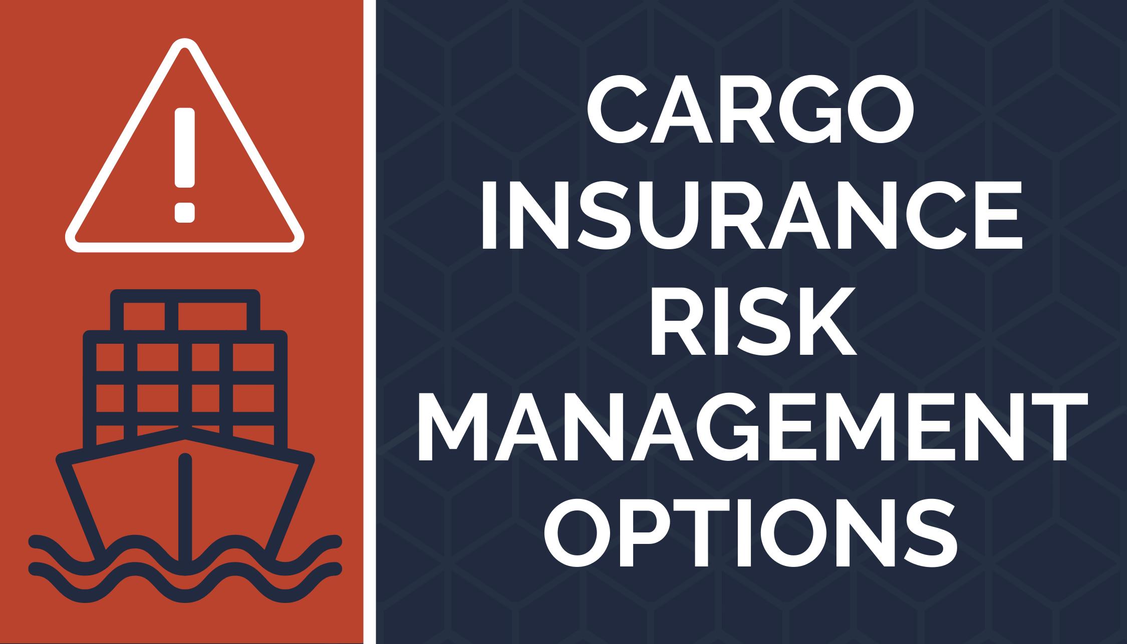 Cargo Insurance Risk Management Options