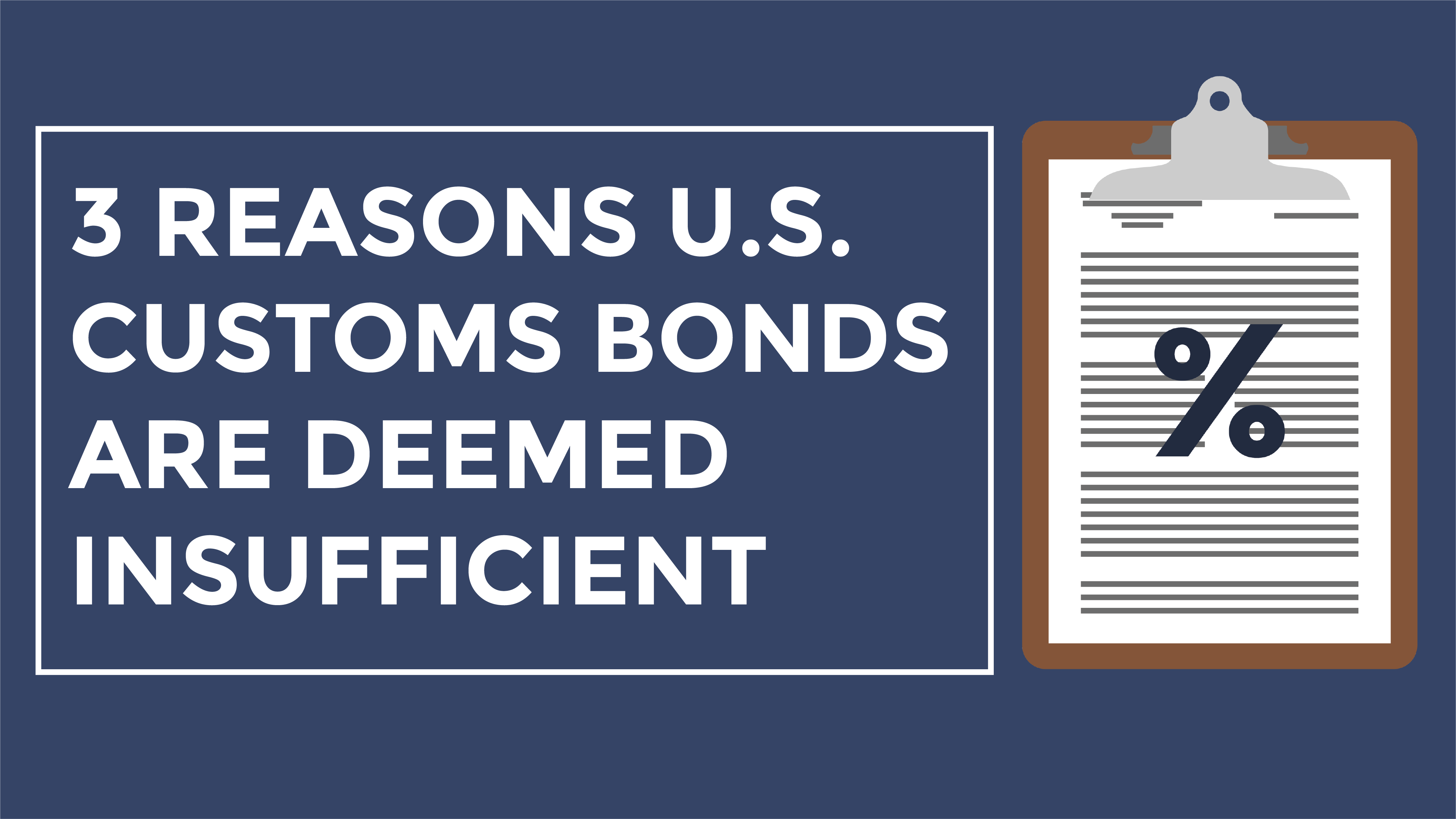 Trade Risk Guaranty provides insight on the 3 most common reasons your bond is deemed insufficient.